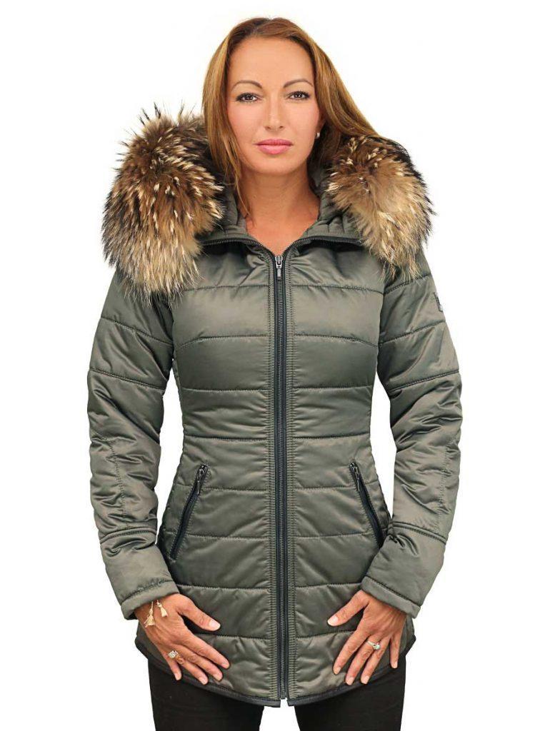Manteau D'hiver Avec Col Fourrure Versano
